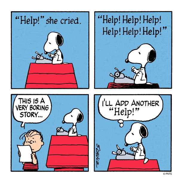 Snoopy story writing www.amsimpson.net