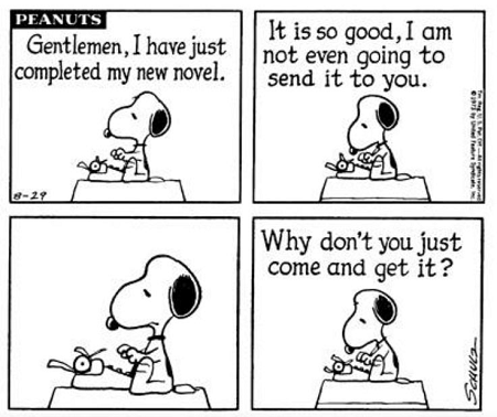 Snoopy writing amsimpson.net